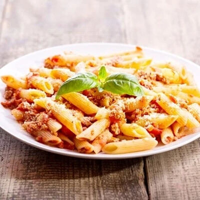 Traditional Penne Bolognese