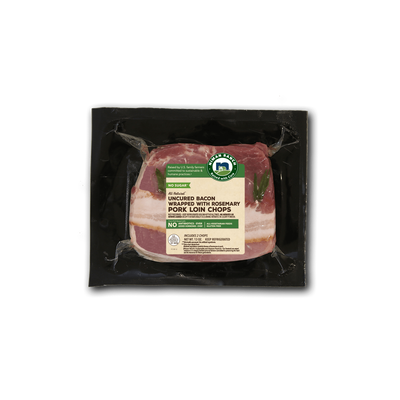 Niman Ranch Bacon-Wrapped Pork Chop With Rosemary
