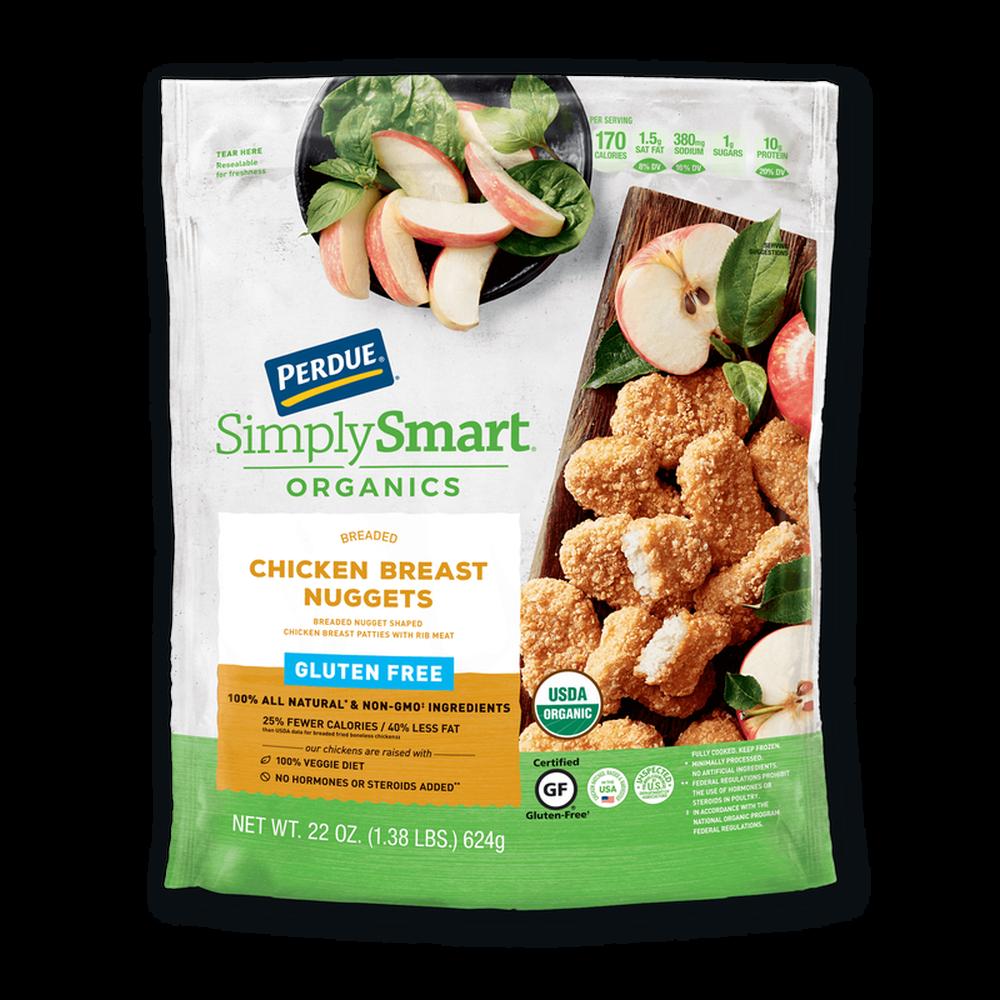 Perdue SimplySmart Organics Breaded Chicken Breast Nuggets Gluten Free image number 0