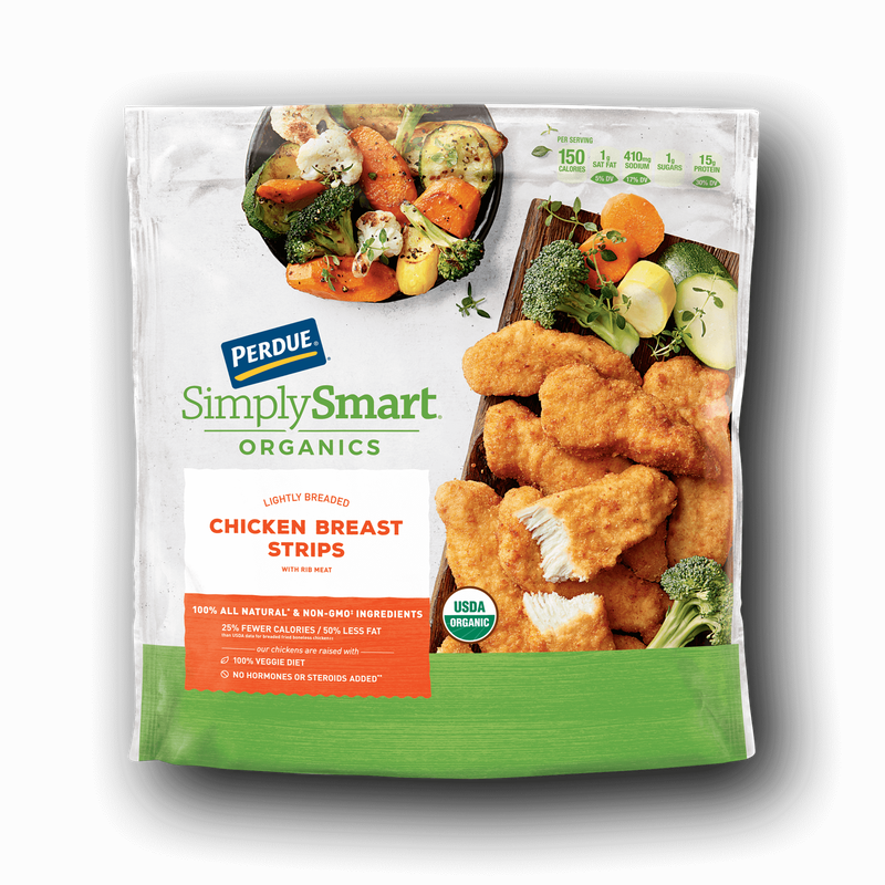 Perdue SimplySmart Organics Lightly Breaded Chicken Strips image number 0