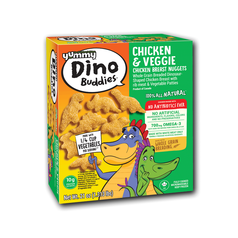 Yummy Dino Buddies All Natural Dinosaur-Shaped Chicken & Veggie Nuggets image number 2