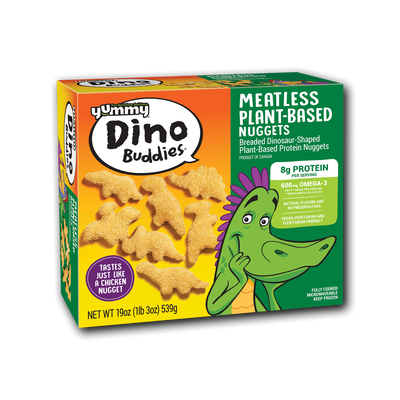 Yummy Dino Buddies Meatless Plant-Based Dinosaur-Shaped Protein Nuggets