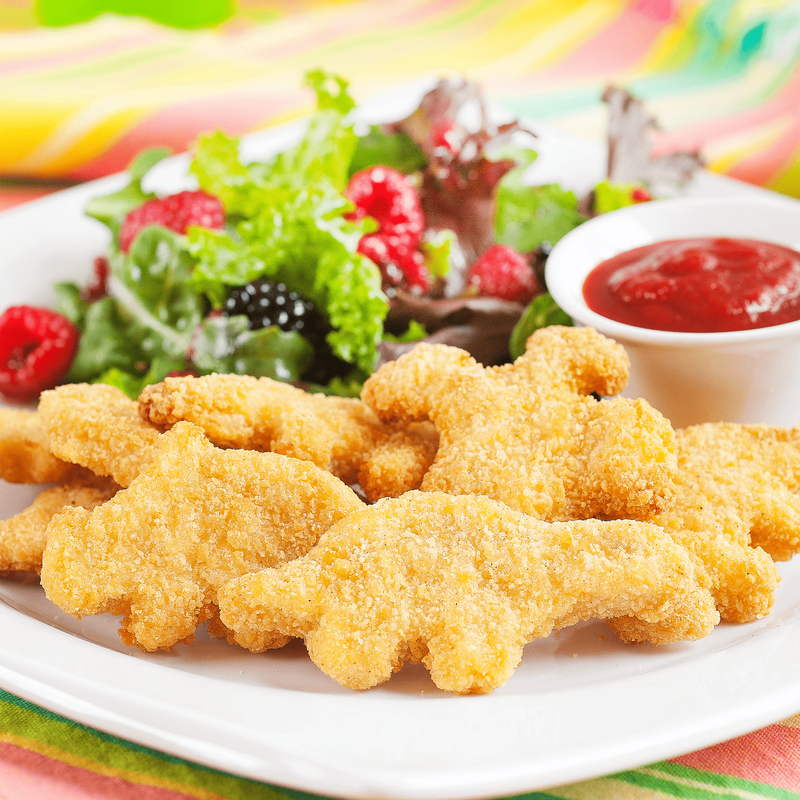 Yummy Dino Buddies Meatless Plant-Based Dinosaur-Shaped Protein Nuggets image number 2