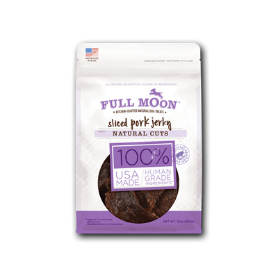 Full Moon Natural Cut Pork Jerky Dog Treats