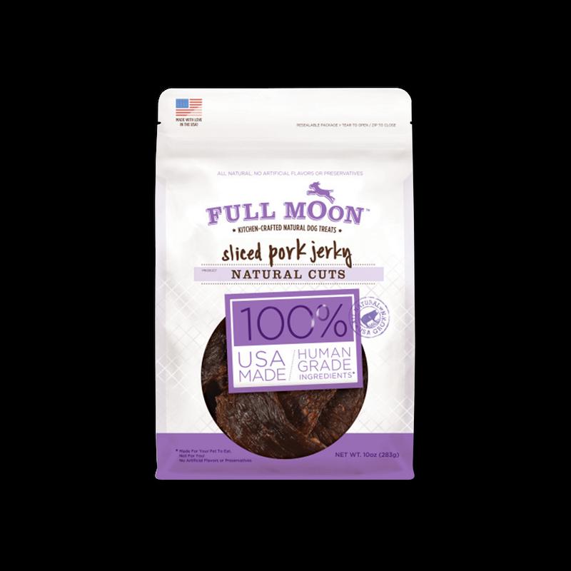 Full Moon Natural Cut Pork Jerky Dog Treats image number 0