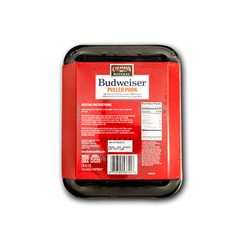 Coleman Natural Budweiser® BBQ Spicy Pulled Pork image number 1