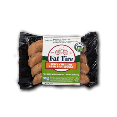 Niman Ranch Fat Tire Spicy Cheddar Brats