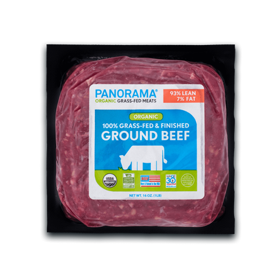 Panorama Organic Grass-Fed 93/7 Ground Beef
