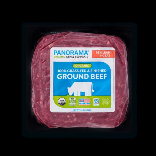 Panorama Organic Grass-Fed 93/7 Ground Beef