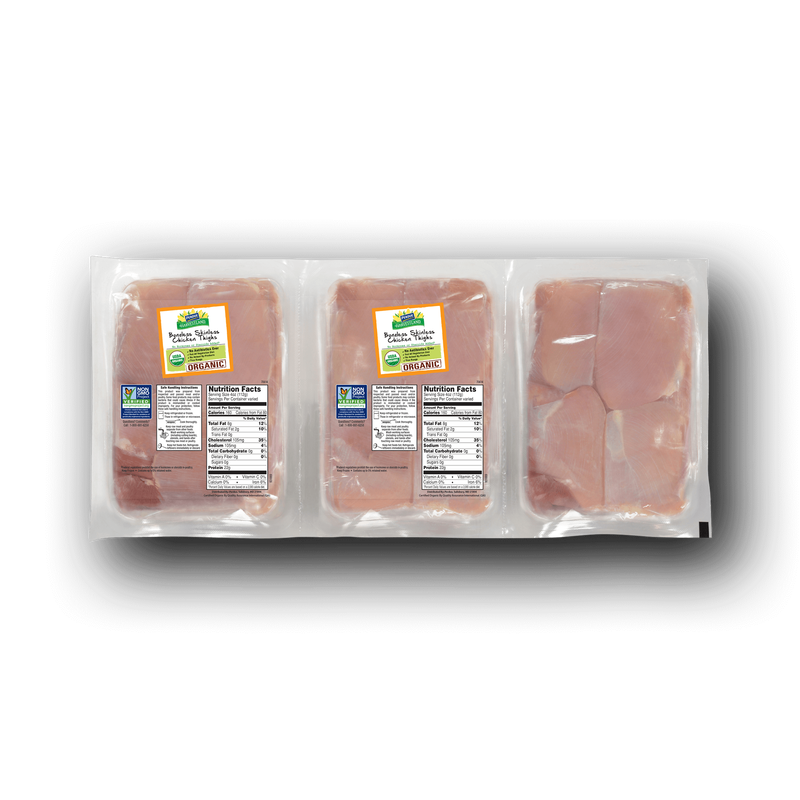 Perdue Harvestland Organic Boneless Skinless Chicken Thighs Pack image number 0