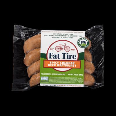 Niman Ranch Fat Tire Spicy Cheddar Brats