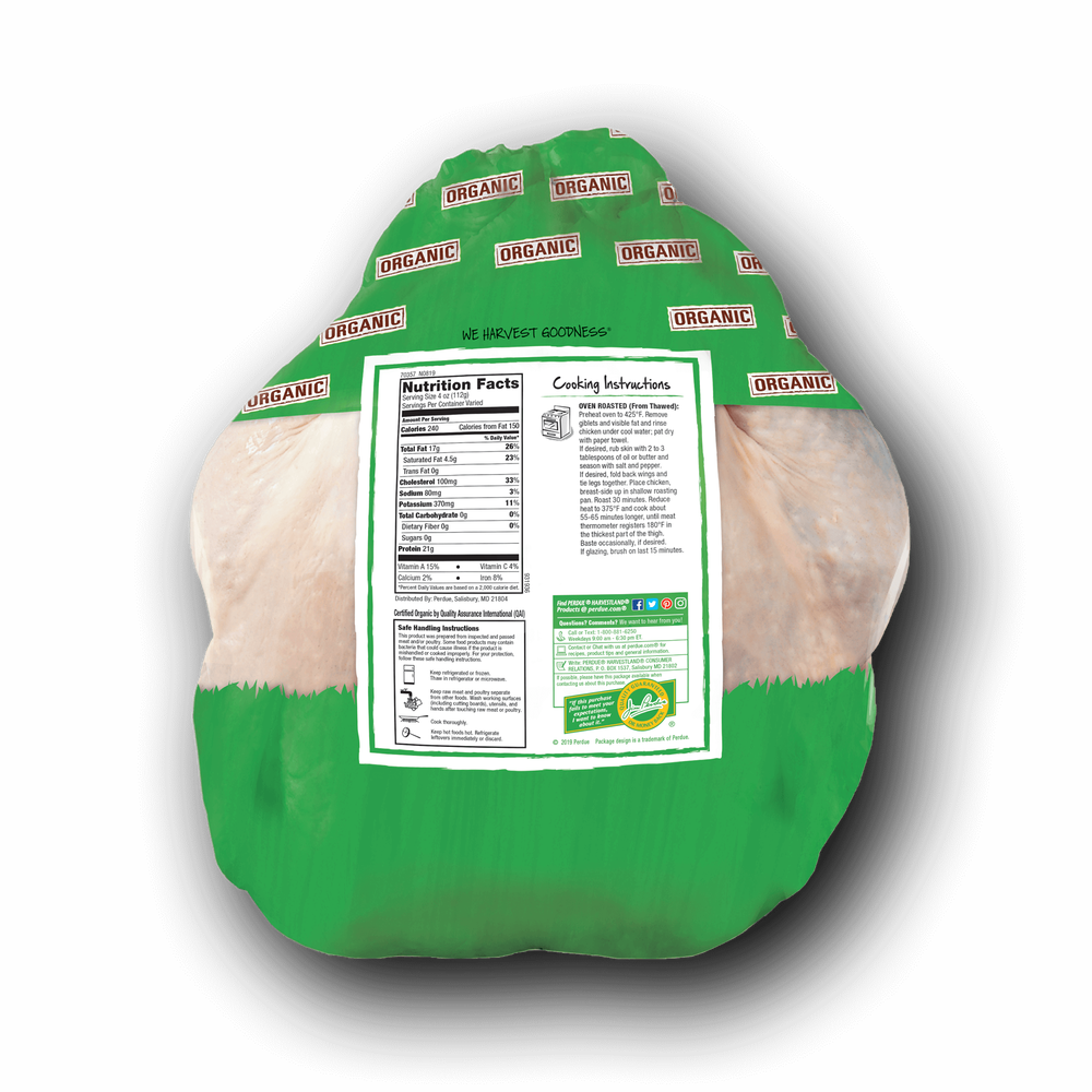 Perdue Harvestland Organic Whole Chicken With Giblets and Necks image number 2