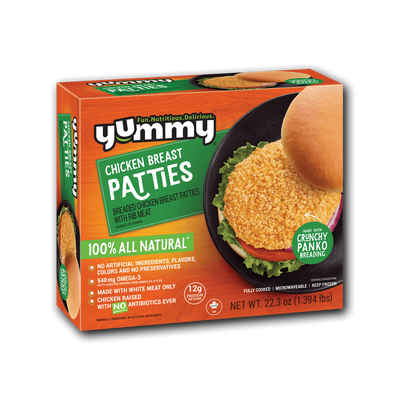 Yummy All Natural Chicken Breast Patties