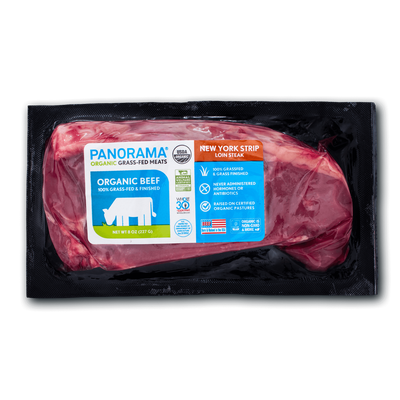 Panorama Organic Grass-Fed New York Strip Steak