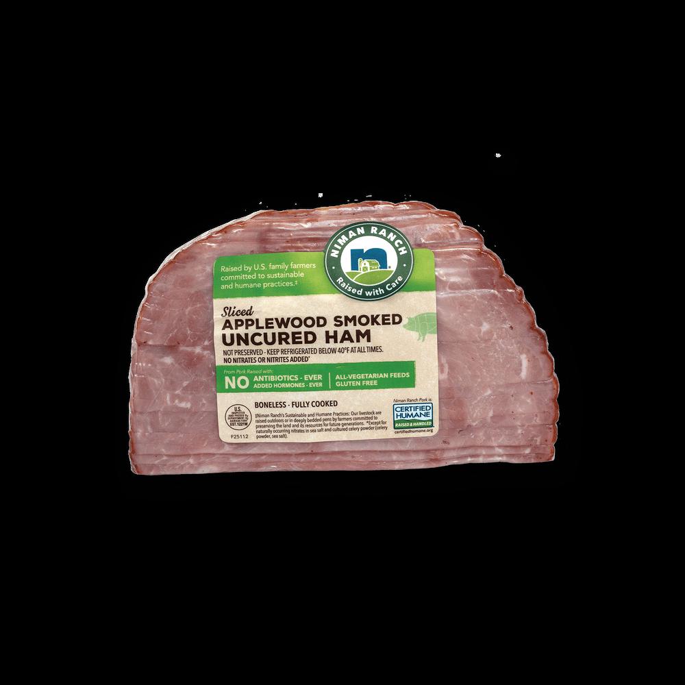 Niman Ranch Sliced Applewood Smoked Uncured Quarter Ham image number 3