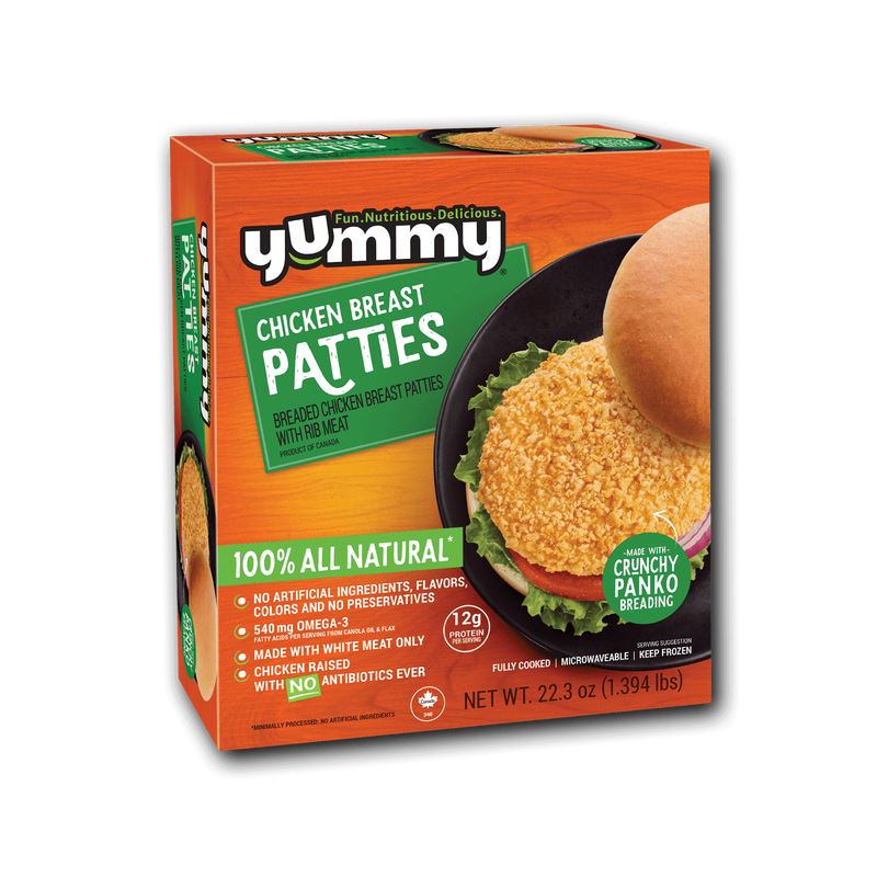 Yummy All Natural Chicken Breast Patties image number 3