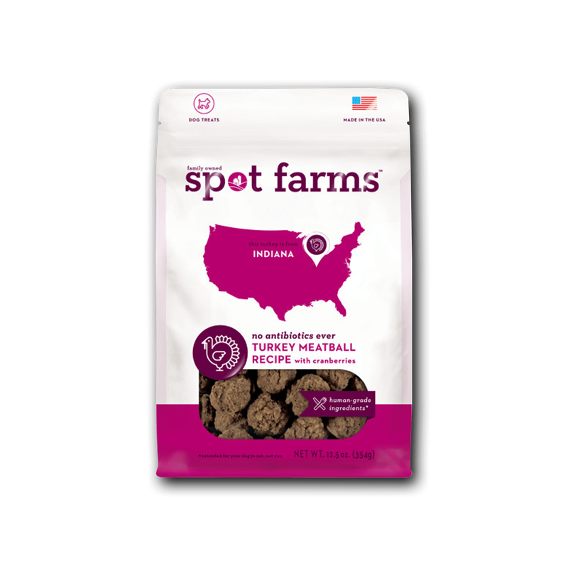 Spot Farms Turkey Meatballs with Cranberries Dog Treats image number 0