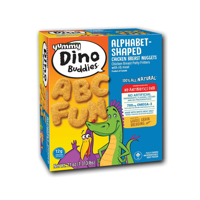 Yummy Dino Buddies Alphabet-Shaped Chicken Breast Nuggets image number 3