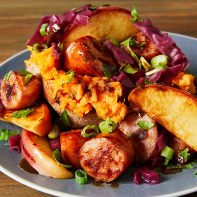 Harvesttime Apple, Sweet Potato and Sausage Supper