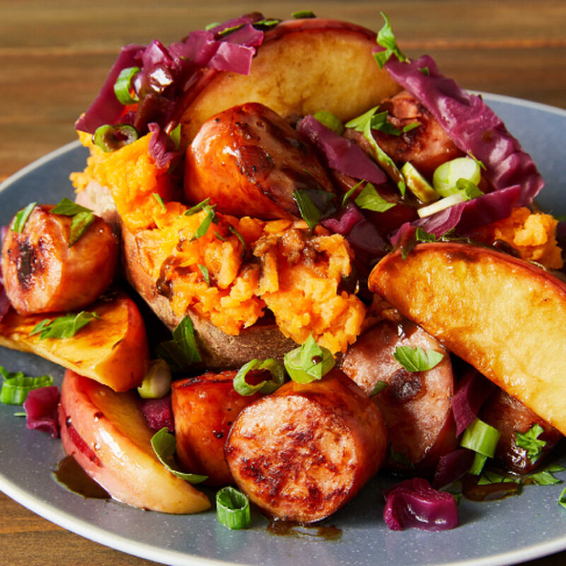 Harvesttime Apple, Sweet Potato and Sausage Supper image number 0