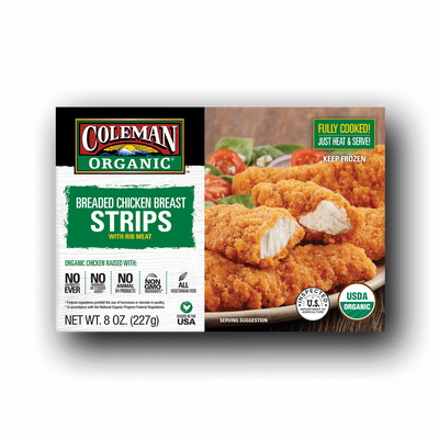 Coleman Natural Foods Organic Breaded Chicken Breast Strips