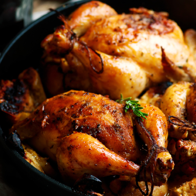 cornish hens with roasted apples