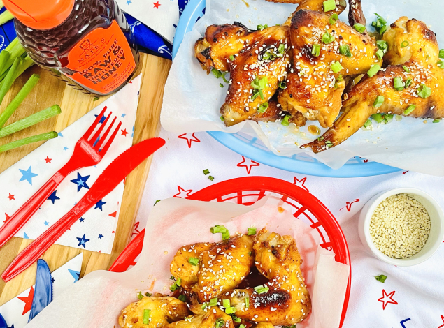 ingredients for honey chicken wings recipe