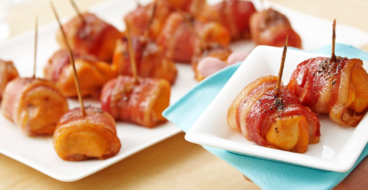 bacon-wrapped chicken chunks recipe