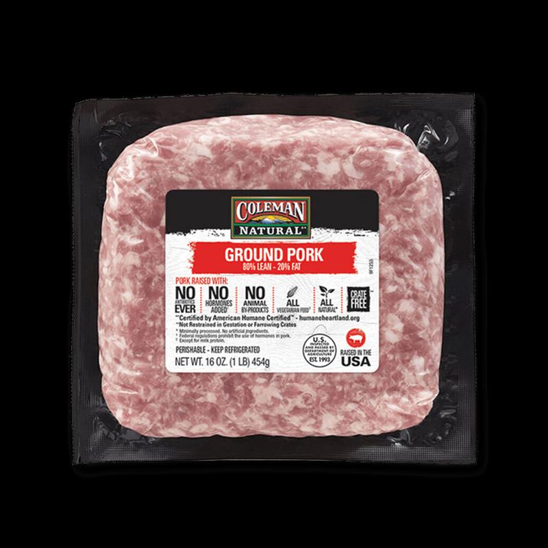 Coleman Natural ground pork