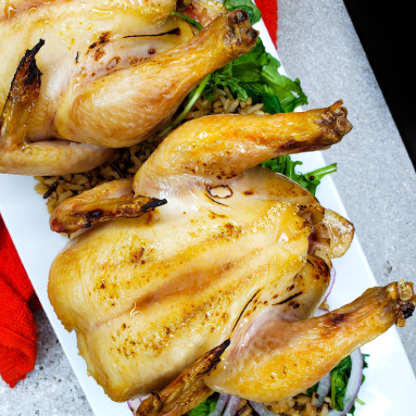 maple bourbon cornish hens