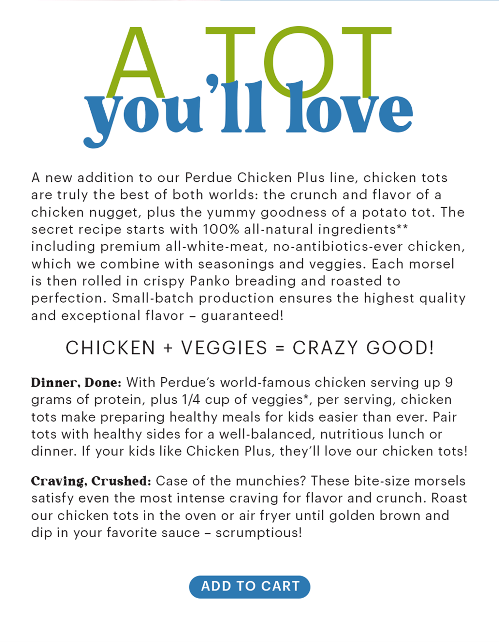 how are Perdue Chicken Tots made