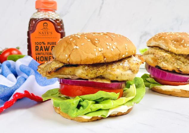 grilled chicken sandwich recipe - honey mustard sauce