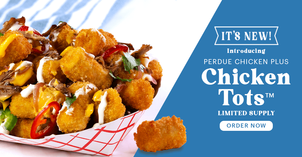 Perdue Farms chicken and vegetable tots