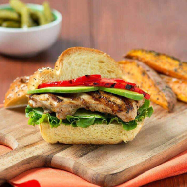 Asian-style grilled chicken sandwich