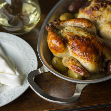 cornish hens in wine sauce