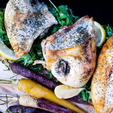 dill chicken breasts with carrots
