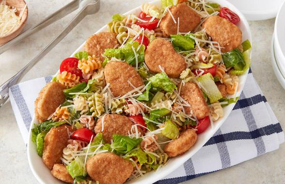 chicken nuggeet pasta salad