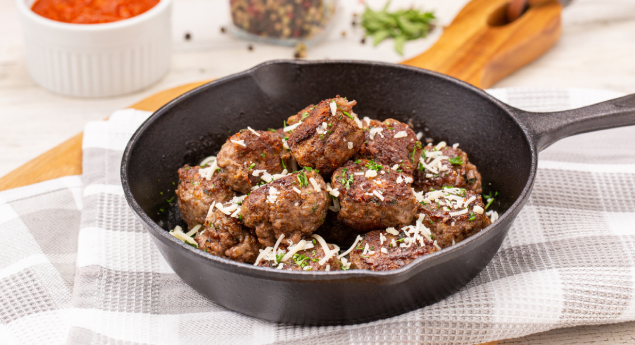 how to brown meatballs in a pan