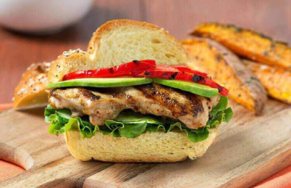grilled chicken thigh sandwich