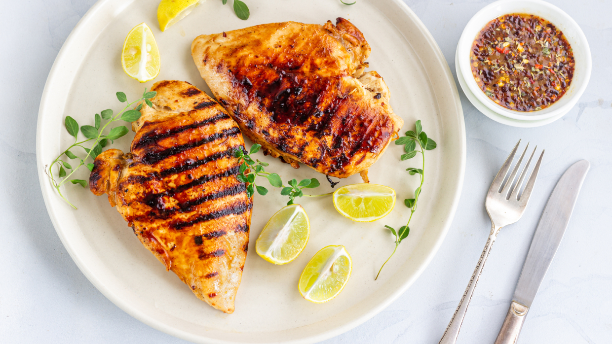 how to grill chicken breasts on a gas grill