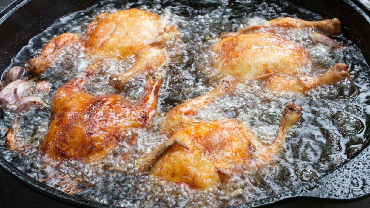 how to deep fry cornish hens
